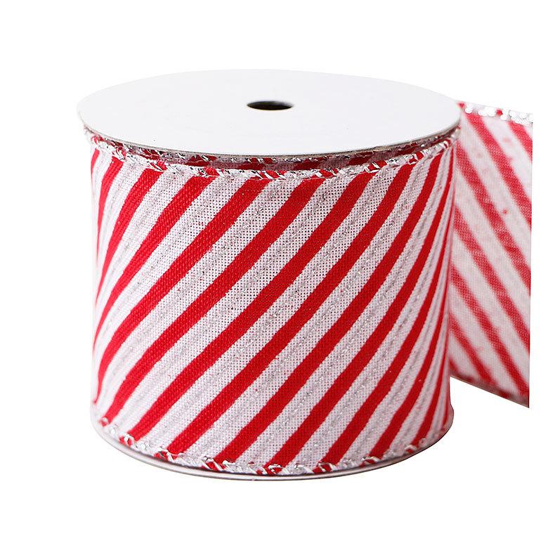 情人節禮盒包裝絲帶定制印刷條紋圓點蝴蝶結裝飾