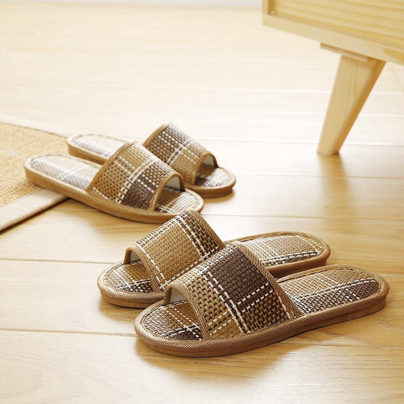 居家凉拖鞋男女夏季室内防滑家居软底浴室洗澡家用地板竹席拖鞋潮