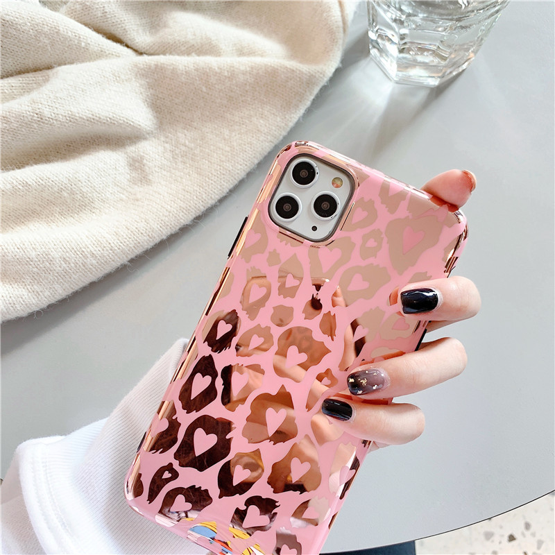 tide brand bronzing powder Leopard iPhone11 Promax mobile phone case for XS Max XR iPhoneX wholesale nihaojewelry NHFI220737