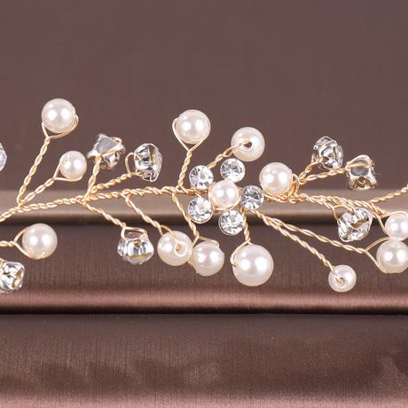 Châu Âu và Hoa Kỳ nóng bán kim cương giả băng đô tóc đội mũ trùm đầu một thế hệ phụ kiện váy cưới Mũ cưới cô dâu Băng tóc