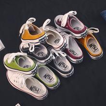 2019富步夏季韩版休闲低帮浅口帆布鞋半托女式布鞋懒人鞋学生板鞋
