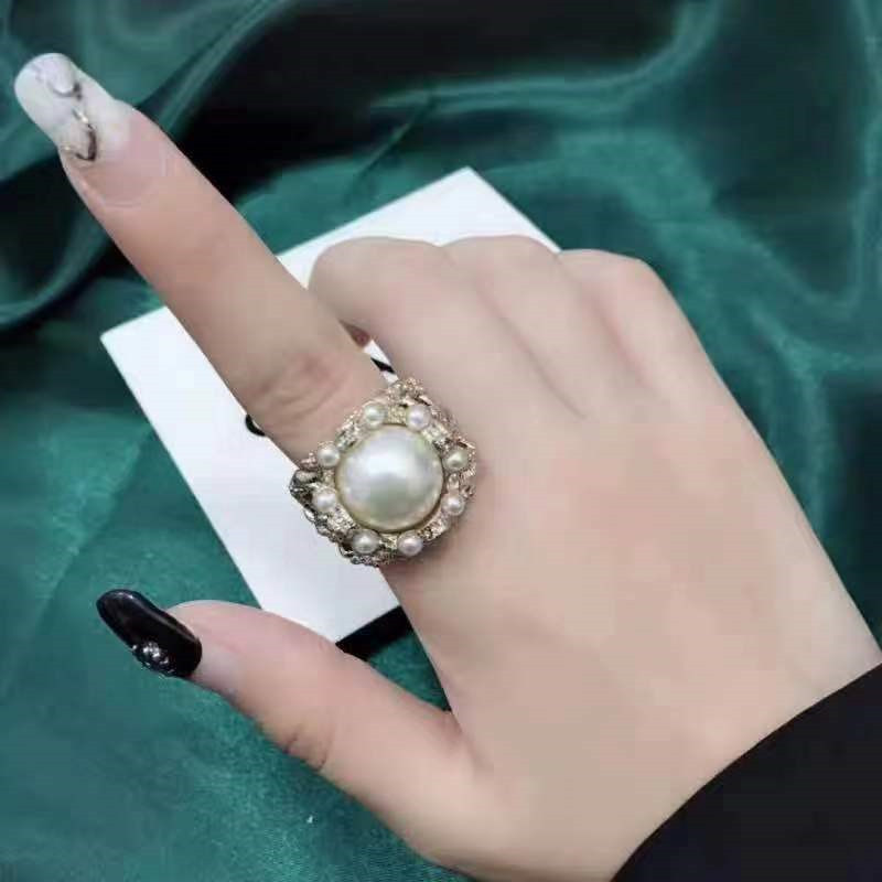 Vintage Baroque Ring Female Palace Wind Open Ring NHYQ173293