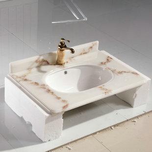 人造石浴室柜台下盆 卫生间洗手盆 成都厂家批发卫浴玉石盆