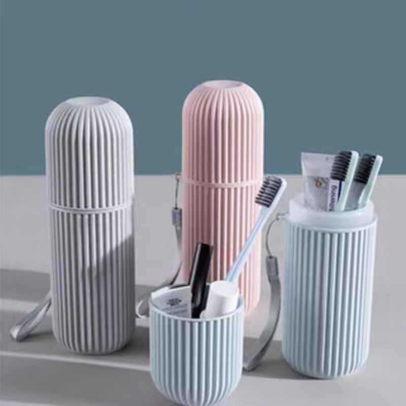 Ly vài bàn chải đánh răng cốc du lịch sáng tạo gói bàn chải đánh răng xách tay hộp bàn chải đánh răng xô với rửa chén nắp đơn giản