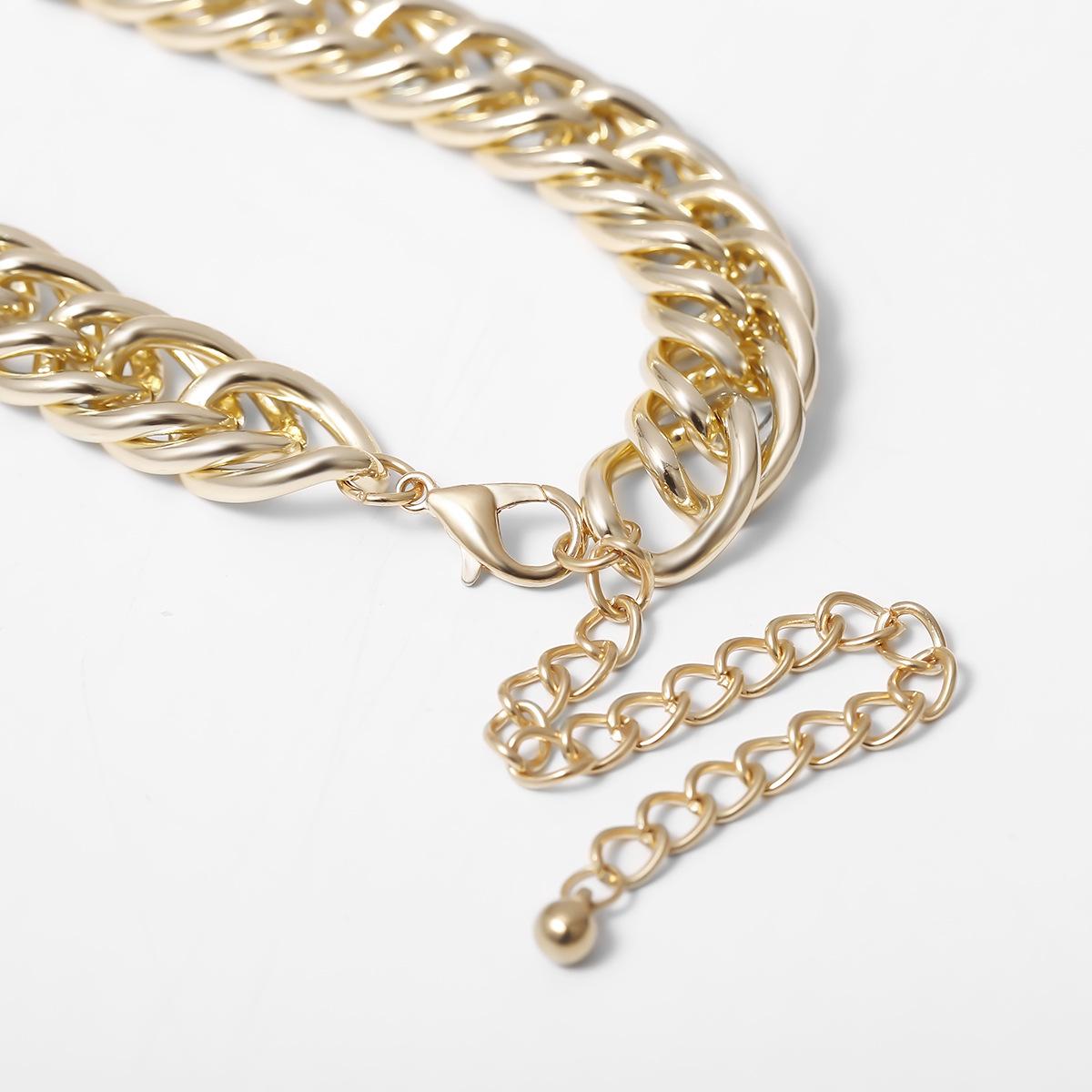 Personalized Simple Trend Necklace Bracelet Set NHXR190915