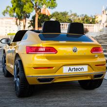 大众Arteon儿童电动越野童车小孩四轮遥控汽车摇摆玩具汽车可坐人