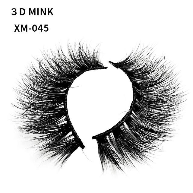 欧美妆3D立体水貂毛假睫毛 自然浓密纤长交叉凌乱款纯手工眼睫毛