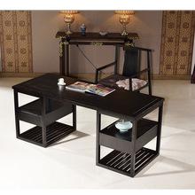 书房办公桌新中式?#30340;?#20070;桌椅组合老板台主管桌设计禅意屋家具组合