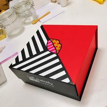 定制食品包装盒长方形圣诞礼品盒子红色新年礼物包装纸盒加工厂家