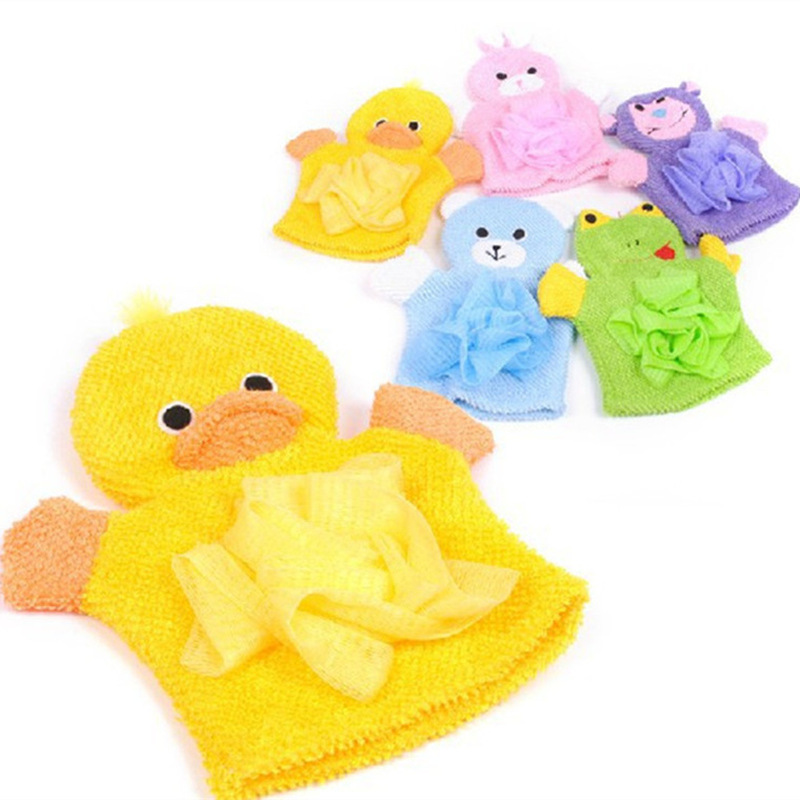 厂家儿童搓澡巾两用卡通海绵宝宝浴球沐浴手套洗澡搓背起泡网神器
