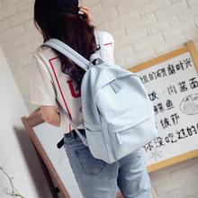 蓝一PU双肩包2019?#21512;?#26032;品韩版潮百搭多功能背包女式包包一件代发