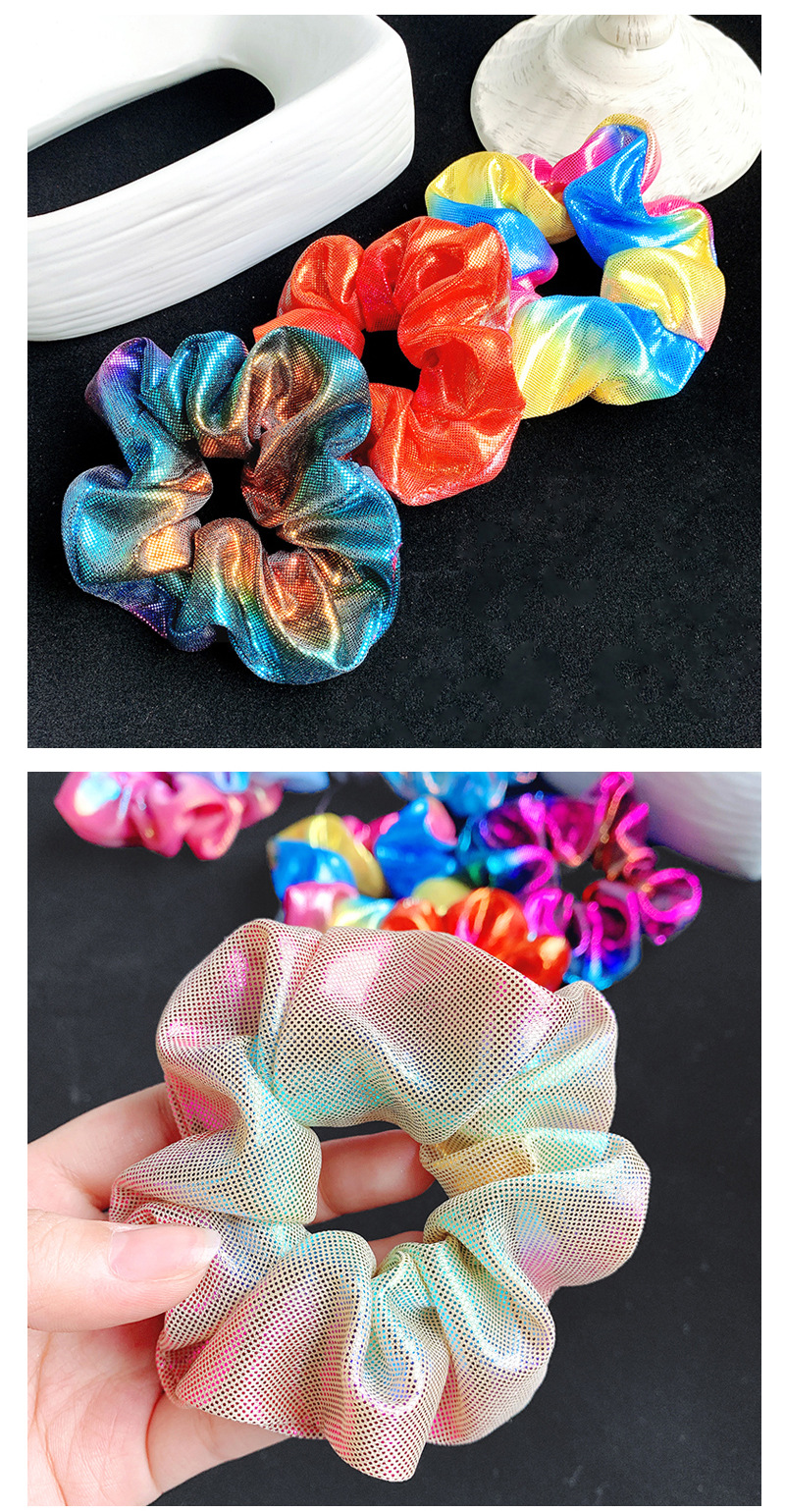 Korean new style hair accessories female simple shiny large intestine hair ring thick hair rope NHOF196037