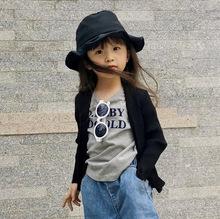 2019春款童装女童春装新款韩版女孩儿童毛衣针织开衫短款童外套