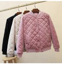 冬季最新款外套女士學生韓版棒球羽絨棉短款輕薄金絲絨小棉襖潮