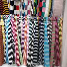 现货供应多彩条纹莫代尔针织面料  全棉莫代尔莱卡新生T恤布料