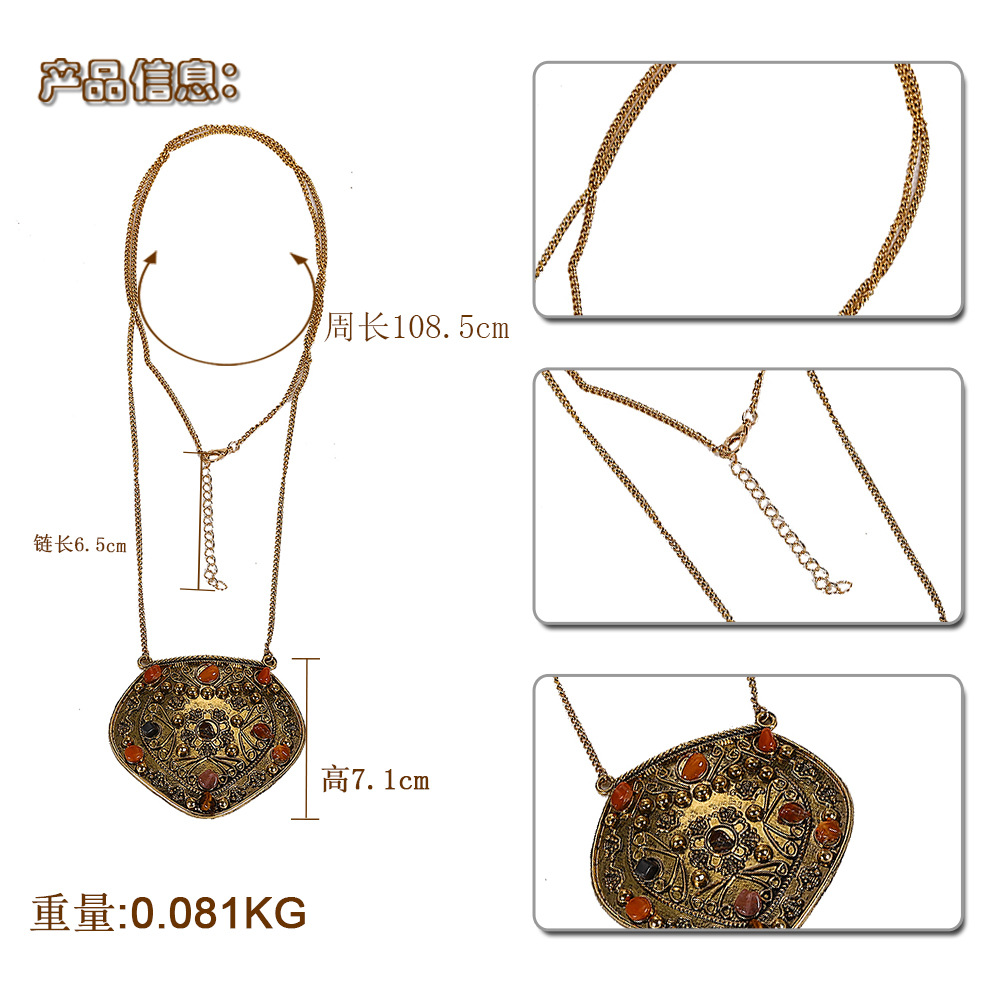 European and American creative big ladies women's wild necklace NHJQ139196