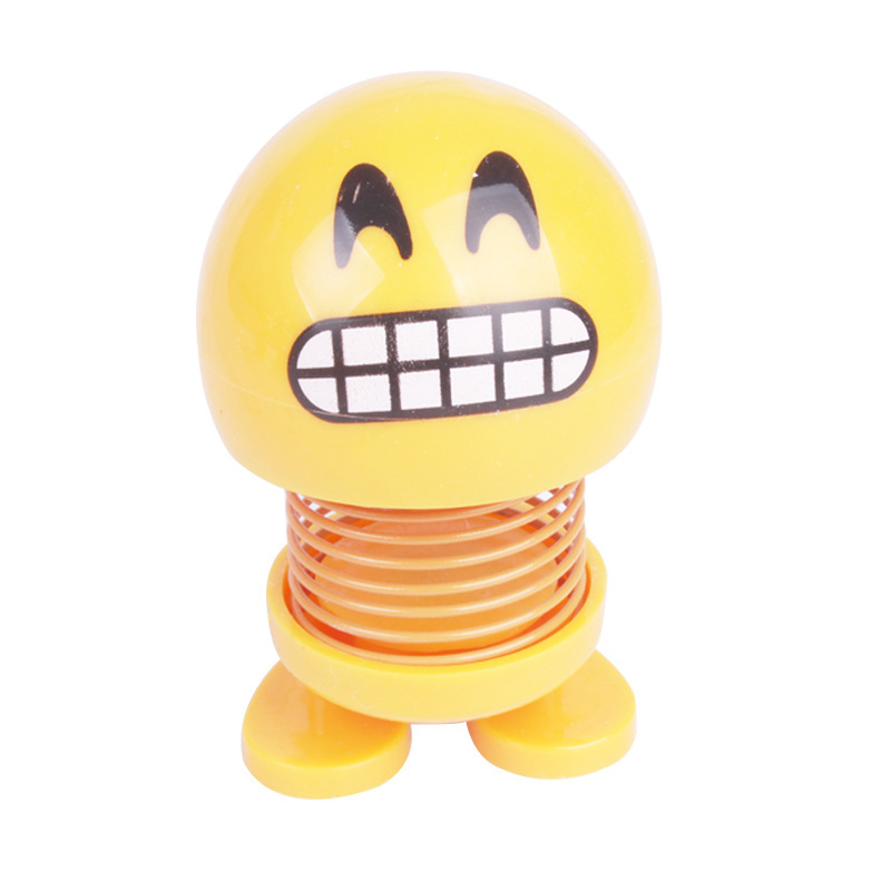 Shaking head doll creative smiley spring doll expression pack NHMM141139