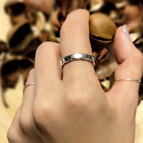 溙 梵 版 S925 vòng bạc nữ thời trang đơn giản mở nhẫn bạc sterling bạc Gongtai trang sức bạc Nhẫn