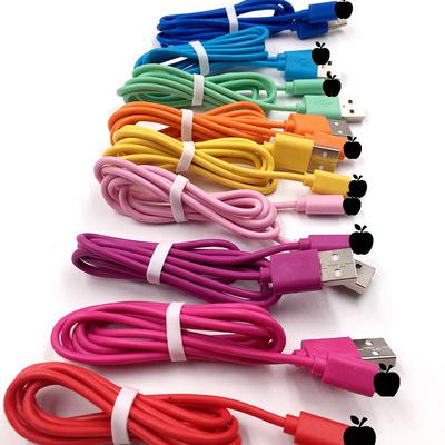 新材质数据线6代适用平果手机快充线数据线 厂家可定制彩色线