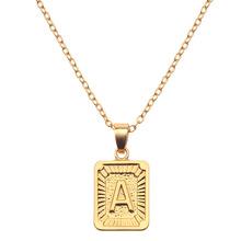 速卖通热销 欧美创意个性26个字母项链 合金电镀 男女通用