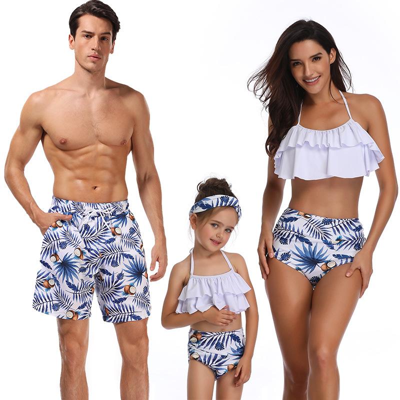 Cotton Fashion  Bikini  (Adult Blue-M)  Swimwear NHCH0137-Adult-Blue-M