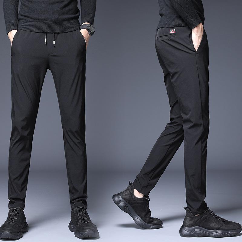 福利49元 FW25748 2020秋季新款青年时尚纯色修身小脚运动九分裤