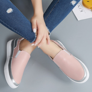 Small white shoes women's leather shoes flat heel women's shoes casual shoes flat sole shoes outdoor sports shoes loafers women