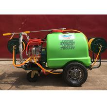 陸雄推車式手推打藥機300升園林高壓農用噴霧器汽油機動力打藥車