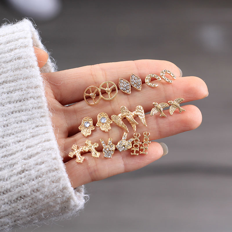 Alloy Fashion Bows earring  (Alloy)  Fashion Jewelry NHNZ1243-Alloy
