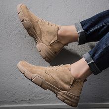 男士工裝靴 2019年秋冬新款 韓版潮流男鞋 工裝潮鞋男英倫短靴