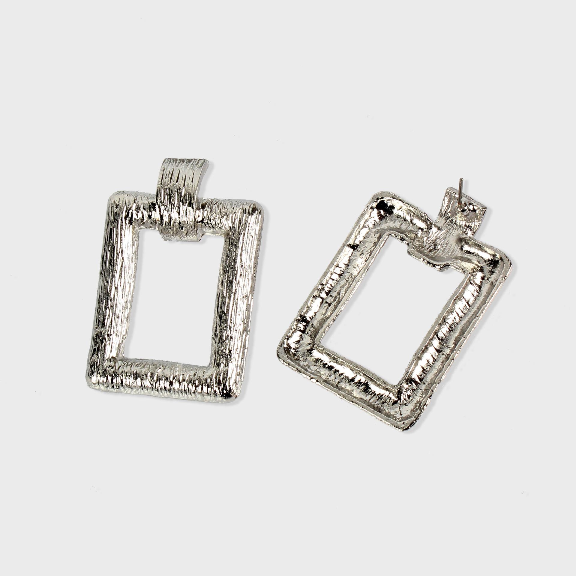 Alloy Fashion Geometric earring  (White k)  Fashion Jewelry NHCT0526-White-k