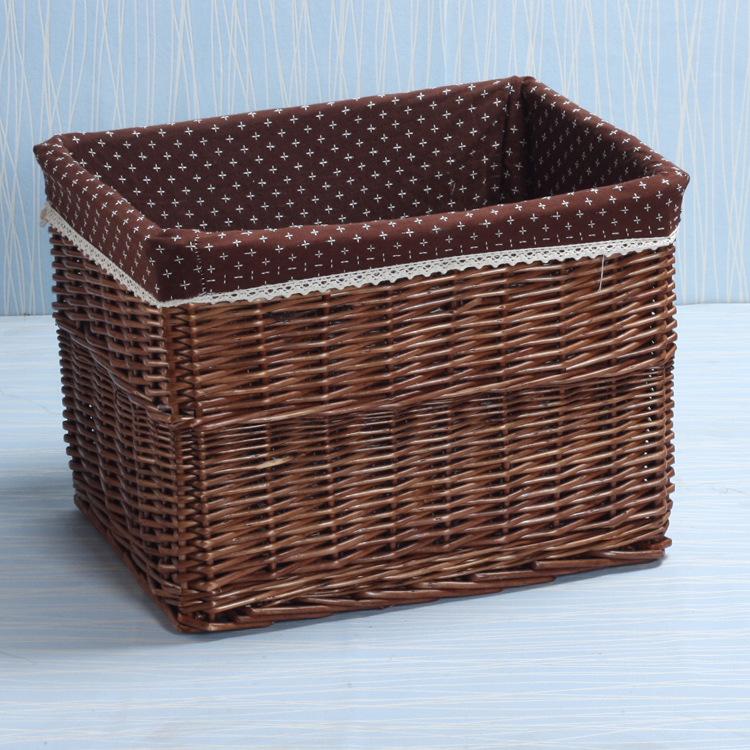 非藤編藤條藤筐竹編柳編田園玩具臟衣服衣物收納筐籃盒箱柳條編織