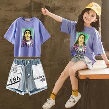 童装女童套装短裤夏装2019新款女孩韩版夏季两件套中大童时髦童装