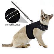 猫背带 狗狗背带 宠物背带 宠物用品 网眼可调节防逃脱猫反光背带
