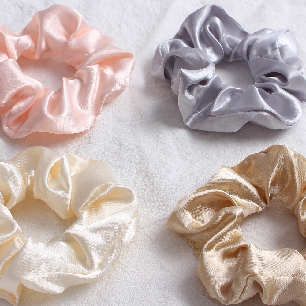 New fashion color hair ring solid color satin color cheap hair ring wholesale NHDM205031