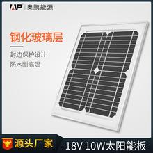 ALLPOWERS 18V10W玻璃层压板太阳能电池板 通信 监控照明太阳能板