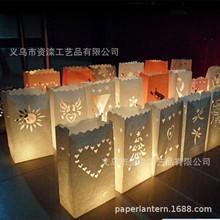 优质阻燃蜡烛袋镂空蜡烛包可以印刷LOGO欧美检测认证80克阻燃纸袋