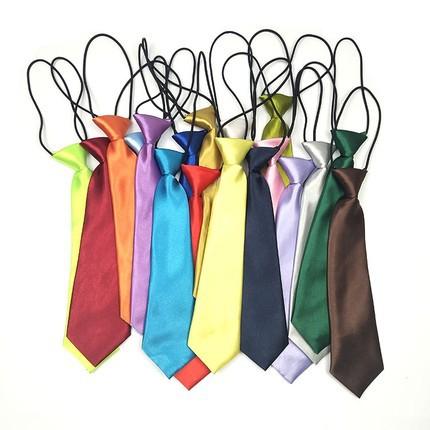 量大优惠韩版男女孩纯色小领带儿童演出班服成人衬衫百搭jk短领带