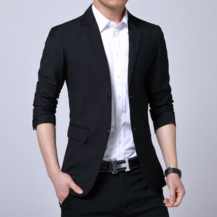 Factory direct spring and autumn style suits men's suits Slim business Korean casual solid color men's suits business wear