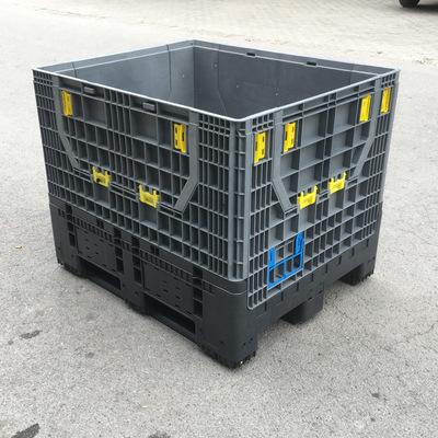 建广制造1210大型折叠式卡板箱 大型可折叠周转箱 折叠式箱式托盘