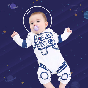 Baby infant Cartoon space astronaut suit for boys and girls birthday photos shooting space clothing