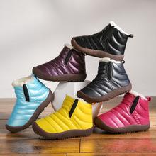 棉鞋 童鞋秋冬儿童棉鞋批发保暖 轻便儿童雪地靴大棉加绒运动靴子