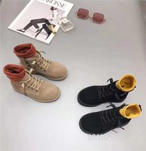 2019秋季新款韩版儿童真皮马丁靴男女童低筒靴女童时尚单靴短靴子