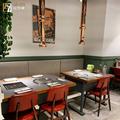 厂家直销欧式餐饮家具火锅烧烤一体铁艺实木防火板餐桌椅定制组合