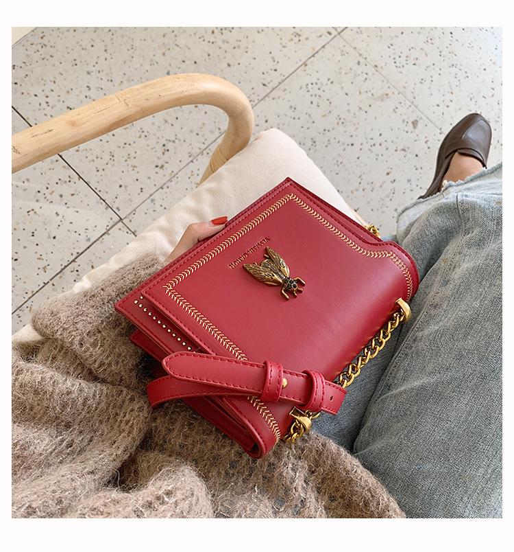 Cross body bag chain bag new fashion small square bag retro shoulder bag handbag NHTC172776