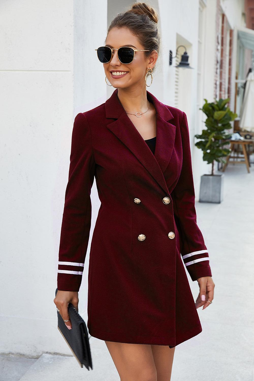 woolen coat double-breasted women's jacket  NSDF3053