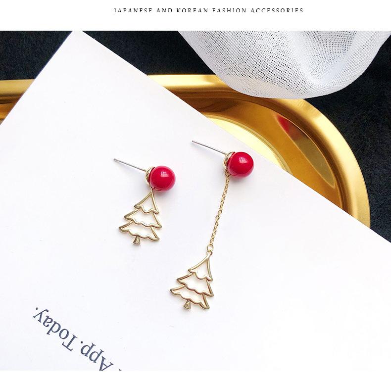 Asymmetric earrings new winter earrings Christmas earrings wholesale fashion jewelry NHDO181380