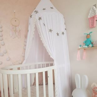 INS new custom children's room summer chiffon lace bed net dome bed curtain tent mosquito net three-color
