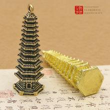 纯铜文昌塔钥匙挂件考试祈福工艺品礼物黄铜十三层宝塔汽车钥匙扣