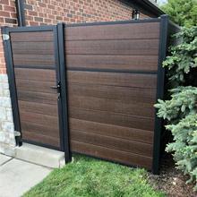 木塑围栏   塑木铝合金围栏 wpc栏杆  别墅护栏   庭院花园栅栏